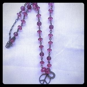 Jewelry - Necklace with Peace and Horseshoe charms